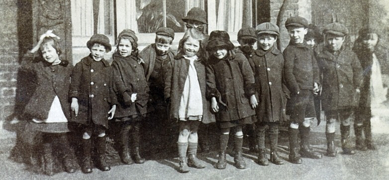Children's outing 1920's, my father is 4th from the left